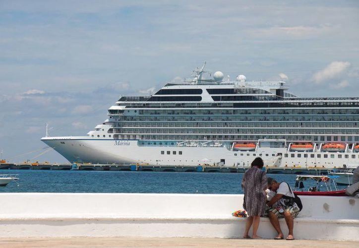 Dos barcos vacacionales llegará el viernes 8 de mayo. (Gustavo Villegas/SIPSE)