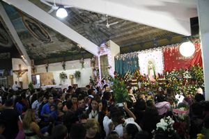 Festejan a la virgen de Guadalupe en Cancún