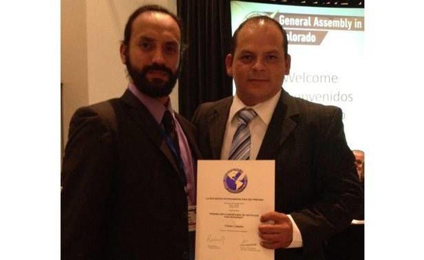 Antonio Rebolledo Jiménez y Omar Esaú Morales fueron distinguidos por la Sociedad Interamericana de Prensa. (diario.mx)