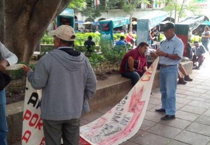 Los integrantes de la APPO en Oaxaca se solidarizan una vez más con la CNTE. (Milenio)