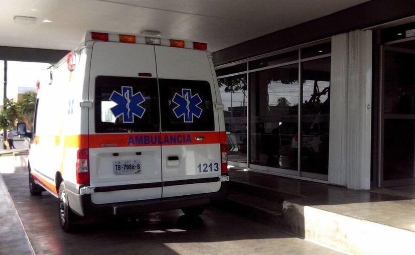 El elementos que resultó lesionado, fue trasladado a una clínica del Issste. (Redacción/SIPSE)