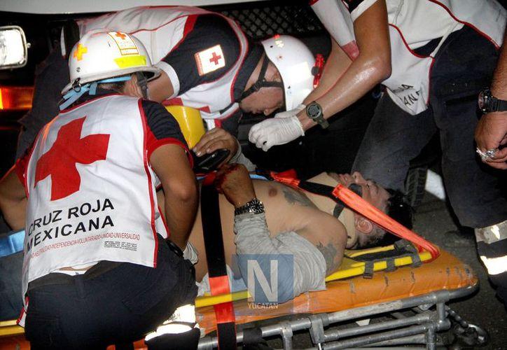 El chofer fue trasladado al Hospital O'Horán.