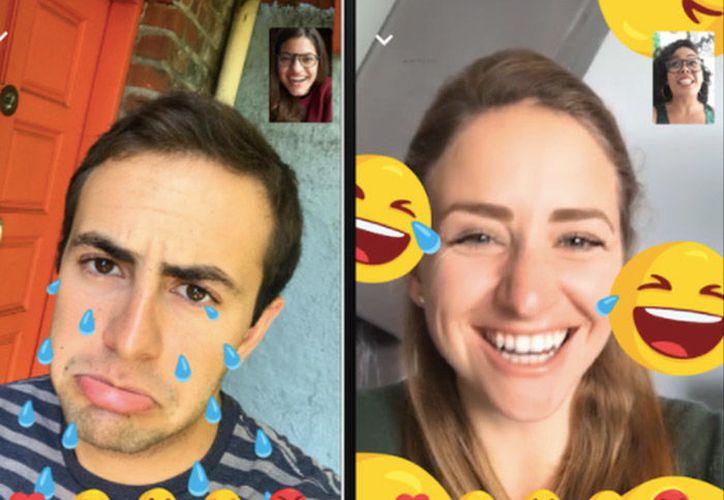 El cambio busca facilitar a las personas expresar sus sentimientos al realizar una videollamada. (Facebook)