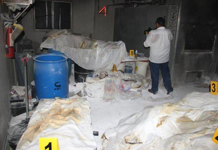 Vista general del crematorio abandonado en Acapulco donde encontraron 60 cadáveres. (EFE)