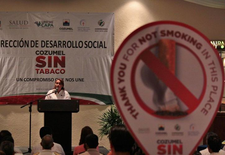 """Se inició la campaña """"Cozumel sin tabaco"""" con una inversión de 60 mil dólares. (Gustavo Villegas/SIPSE)"""