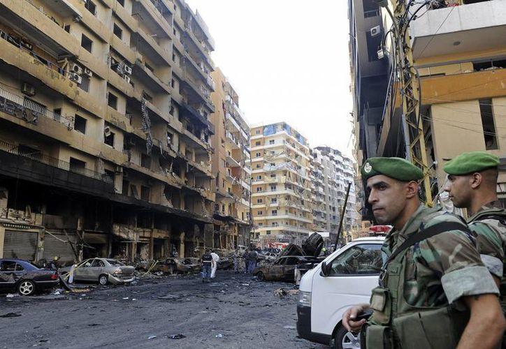 Imagen de archivo de una explosión en el sur de Beirut (Líbano). (EFE/Archivo)