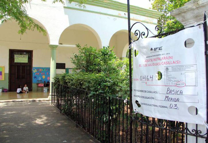 En julio, en una misma casilla en Yucatán, se emitirá el voto local y federal en las elecciones de 2015. (Milenio Novedades)