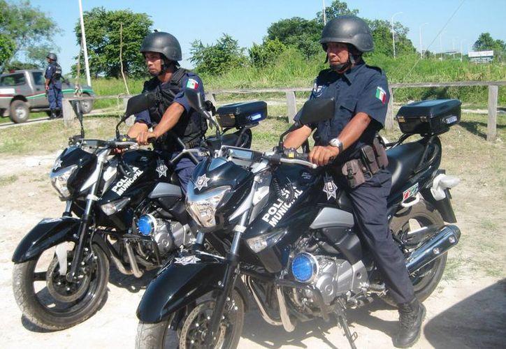 La Policía Municipal Preventiva ya cuenta con una estrategia que permitirá cubrir los balnearios públicos. (Javier Ortiz/SIPSE)