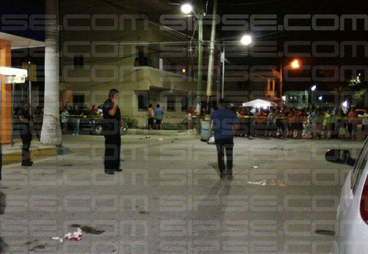 El hombre murió en el lugar, y la fémina resultó lesionada por arma de fuego. (Foto: Redacción/SIPSE)