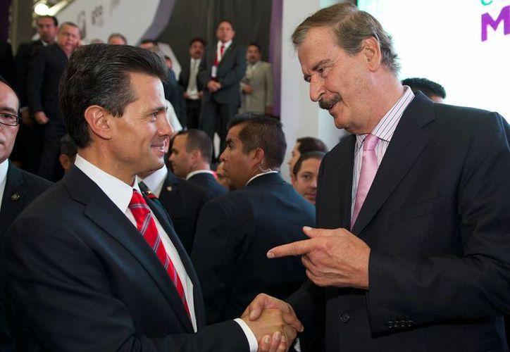 Desde la campaña presidencial de 2012, Fox apoyó a Peña Nieto abiertamente. (Notimex)