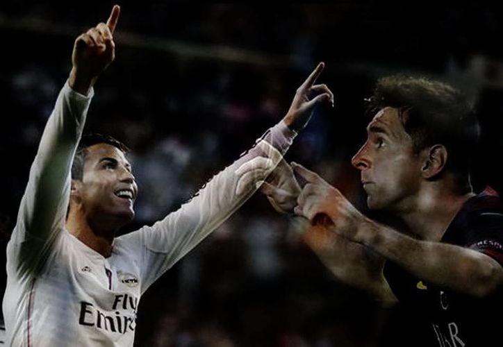 CR7 y Messi, un esperado enfrentamiento en el clásico español. (Reuters/Milenio)