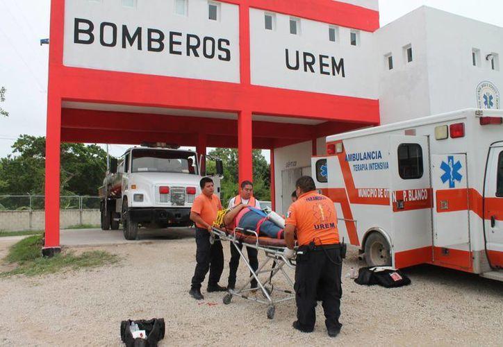 Las ambulancias deben tardar de 3 a 5 minutos en llegar. (Harold Alcocer/SIPSE)