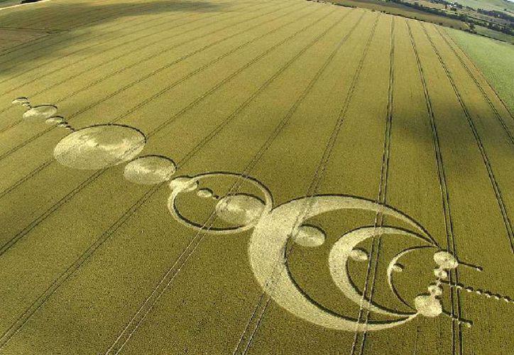 Algunos de los círculos de trigo más famosos, la mayoría en el Reino Unido. (Jorge Moreno/SIPSE)