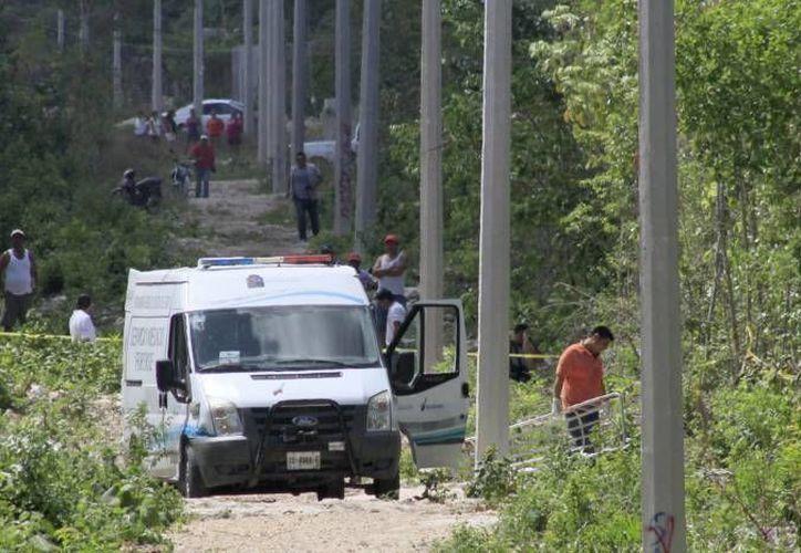 El pasado miércoles, encontraron el cuerpo de una adolescente de 13 años en un camino de terracería en el fraccionamiento Paseos del Mar. (Sergio Orozco/SIPSE)