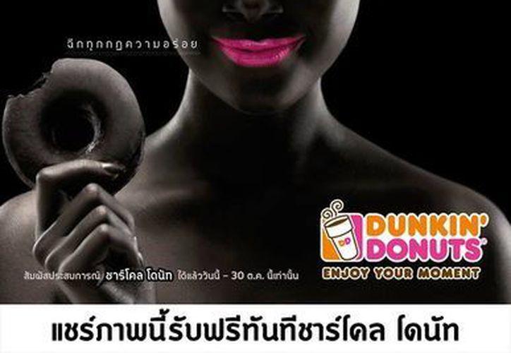 Este es el anuncio de Dunkin' Donuts que indignó a  Human Rights Watch en Tailandia. (Facebook oficial)
