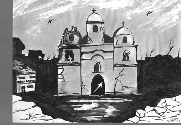 La iglesia de Tzemé no pudo ser concluida, pero muchas personas aseguran que han escuchado tañer sus campanas. (Jorge Moreno/SIPSE)