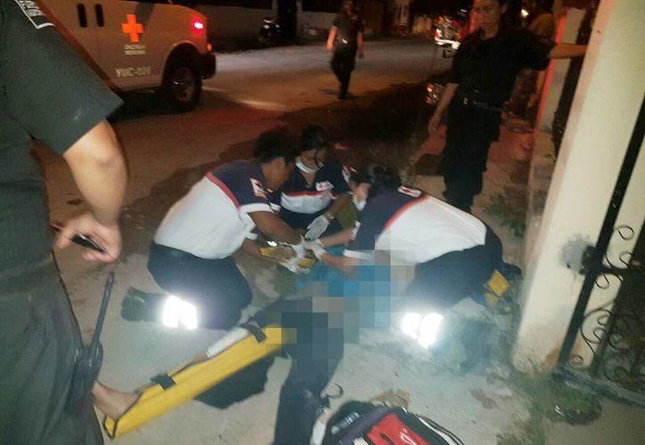 Un motociclista con aliento alcohólico falleció al chocar en calles de la ciudad de Ticul. (Milenio Novedades)