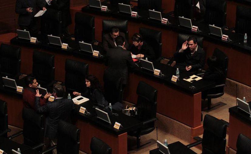 El Senado de la República iniciarán el primer receso del tercer año de la LXII Legislatura. (Notimex)
