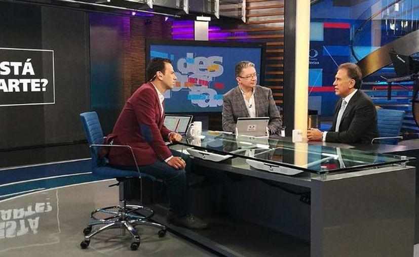 El gobernador de Veracruz, Miguel Ángel Yunes, fue entrevistado en el programa 'Despierta'. (twitter.com/NTelevisa_com)