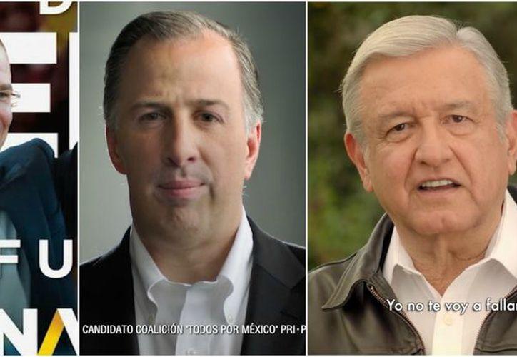 Candidatos presidenciales impulsados por partidos, para la elección del 1 de julio, (Foto: Animal Político)