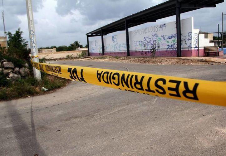 El lugar fue acordonado por personal de la FGE, hasta el momento no hay información oficial.