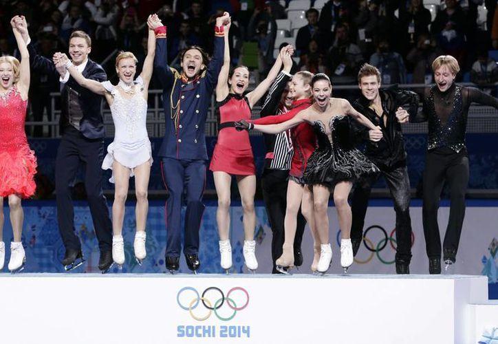 El equipo de patinaje ruso se cubrió de oro tras dominar cinco de las ocho pruebas de la especialidad. (Agencias)