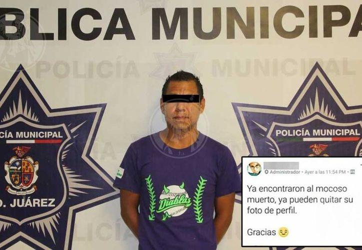 Posterior a la detención de José Manuel A. C, se verificaron sus datos generales en el Sistema de Plataforma Juárez, así como su perfil en redes sociales. (Vanguardia MX)