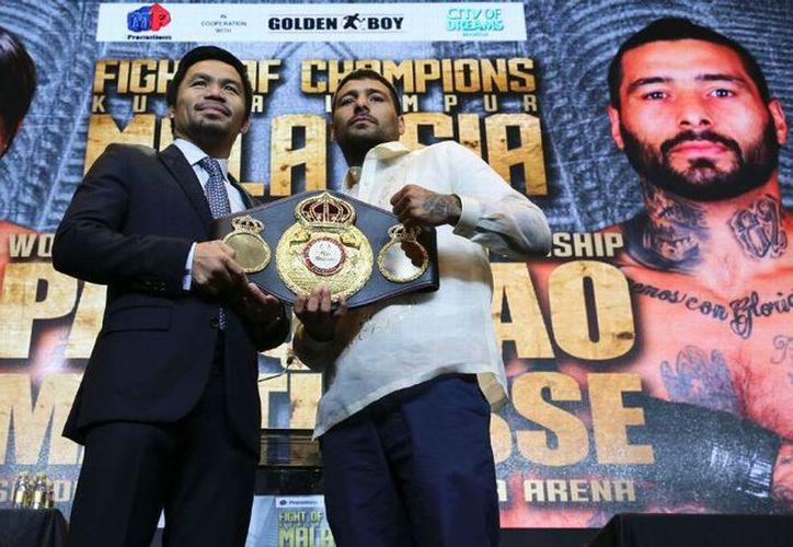 Los boxeadores se enfrentarán el 15 de julio en  Kuala Lumpur, Malasia. (Foto: ESPN)