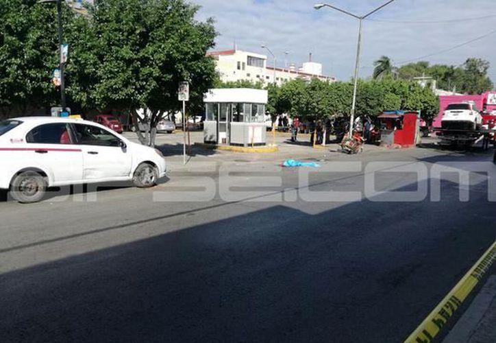 Vanessa Estefanía N conducía en estado de ebriedad una camioneta Honda CVR sobre la calle 68 entre 69 y 71, del centro de la ciudad.  (SIPSE)