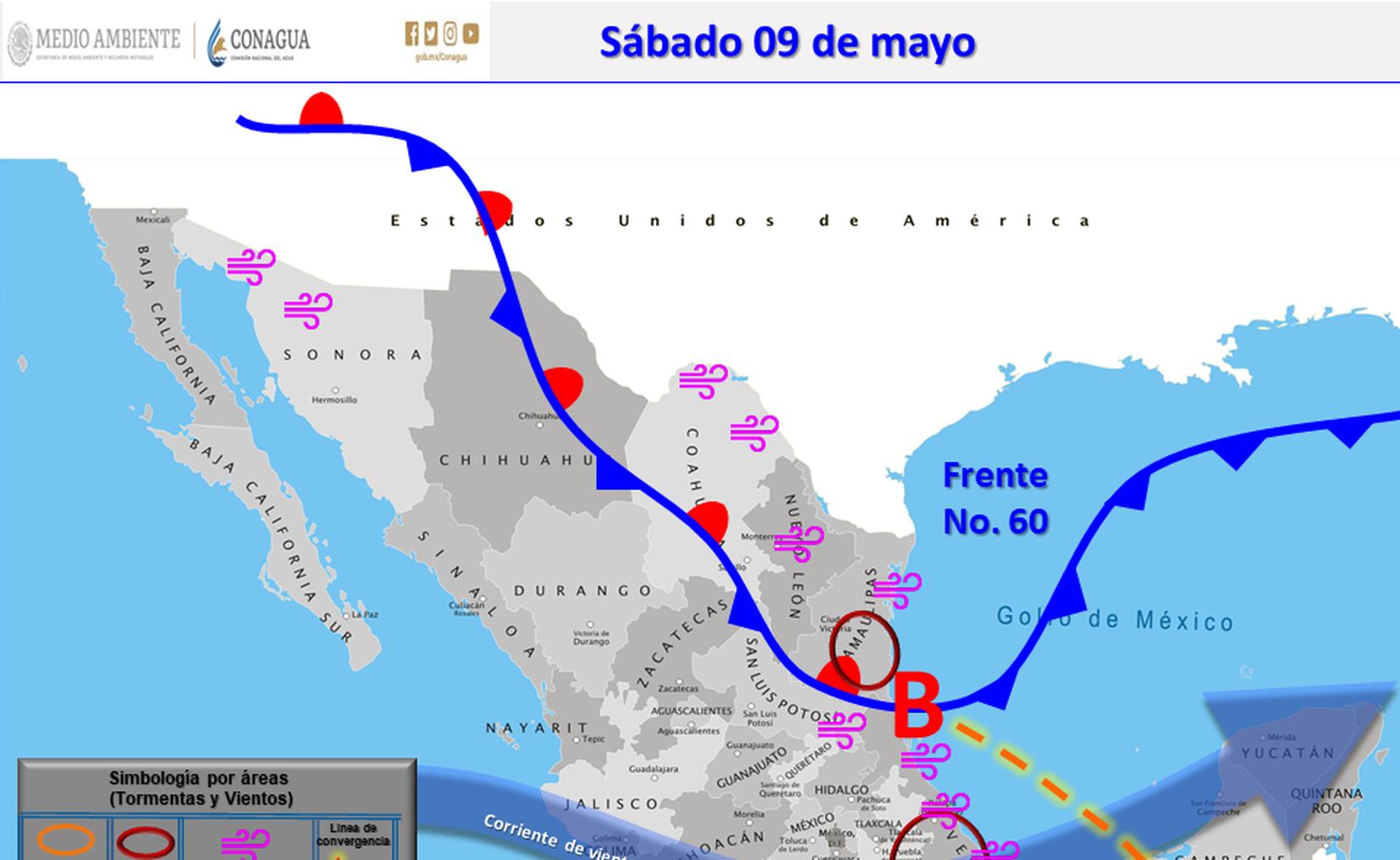 Prevén lluvias de fuertes a intensas en Nuevo León y Tamaulipas