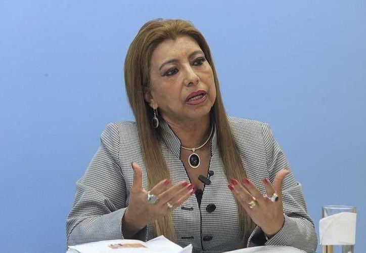 La ex titular del Registro General de la Propiedad de Guatemala, Anabella de León, una de las detenidas, en imagen de archivo. (Foto: http://www.prensalibre.com/Hemeroteca PL)