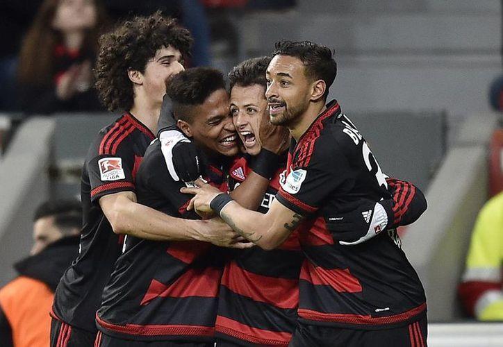 'Chicharito' acumula 15 anotaciones en los 26 partidos de la Bundesliga alemana. (AP)