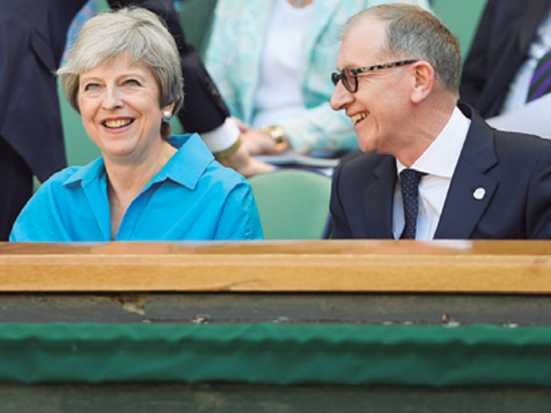 British Prime Minister Theresa May and her husband Philip May, in London.