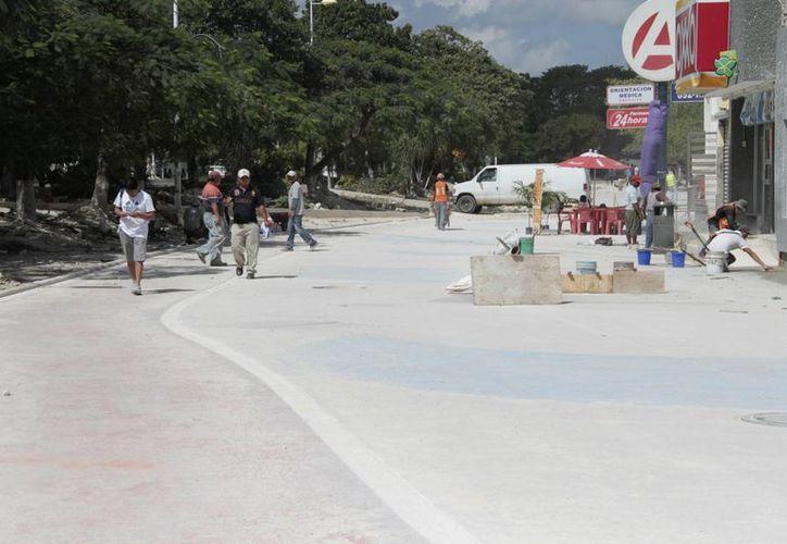 Continúan los trabajos para el embellecimiento de la ciudad. (Tomás Álvarez/SIPSE)