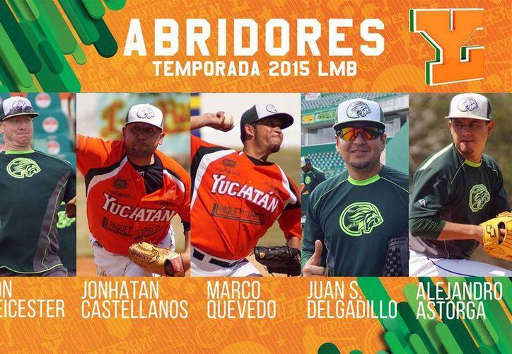El cuerpo de lanzadores de Leones de Yucatán ya está listo para iniciar la temporada regular en la Liga Mexicana. (SIPSE)