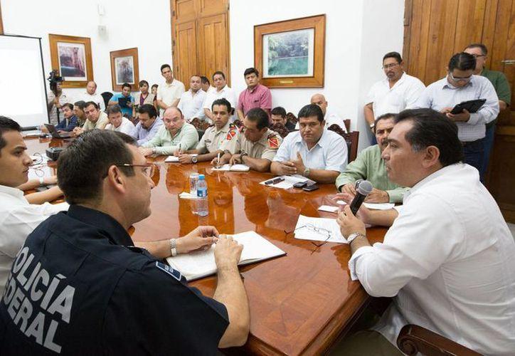 La reunión del Grupo de Primera Respuesta del Consejo Estatal de Protección Civil. (Cortesía)