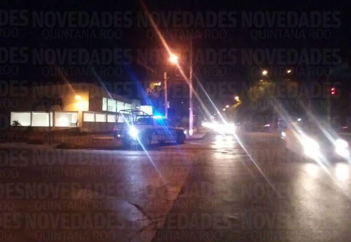 Policías municipales acordonaron la zona para las averiguaciones correspondientes. (Foto/SIPSE)