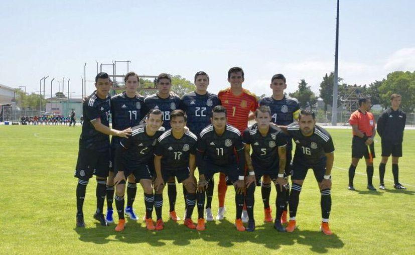 La Selección Azteca Sub 22 cerró de buena manera su participación en el torneo francés. (Foto de @COM_Mexico)