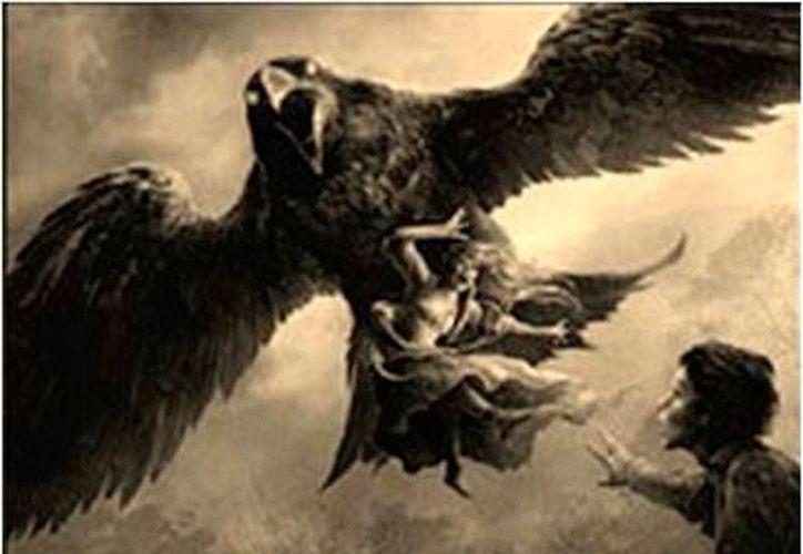 Representación gráfica de la descripción que se hace de la bestia más temida del Mayab: Huay Poop. (Jorge Moreno/SIPSE)