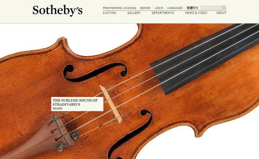 La casa de subastas Sotheby's espera que viola Stradivarius se venda en 45 millones de dólares. (sothebys.com)