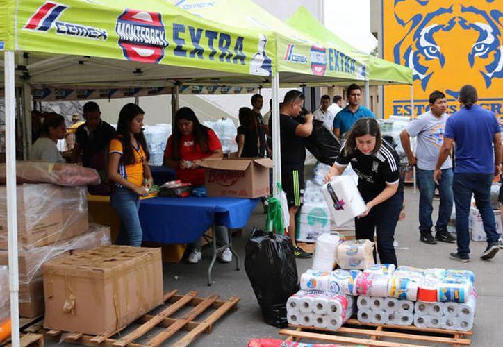 Las despensas serán enviadas a los afectados por el sismo de Morelos y Oaxaca. (Foto: Medio Tiempo)