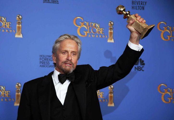 Douglas ganó el pasado fin de semana un Globo de Oro por mejor actor en una miniserie o telefilme con Behind the Candelabra. (Agencias)