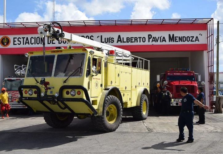 La unidad tiene aproximadamente tres metros de alto y capacidad de almacenamiento de 2 mil 500 litros de agua.  (Irving Canul/SIPSE)
