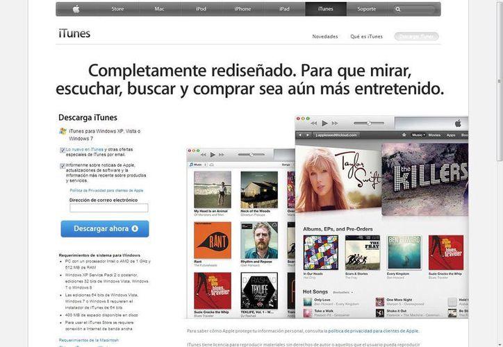 El catálogo de la tienda cuenta con 26 millones de canciones. ( iTunes)