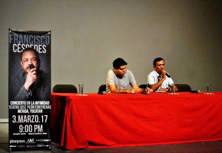 Los organizadores del evento dieron a conocer todos los detalles sobre el concierto del compositor Francisco Céspedes.(Daniel Sandoval/Milenio Novedades)