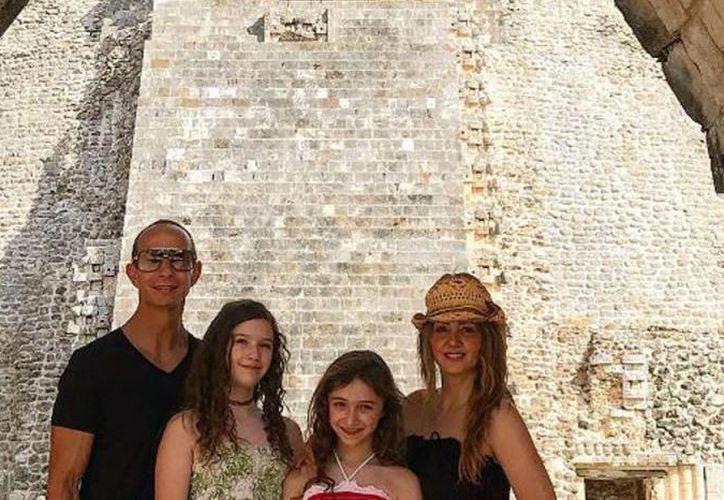 La familia Rubín Legarreta aprovechó una presentación de Timbiriche en la región, para disfrutar de Yucatán durante el fin de semana. (Contexto/Internet)
