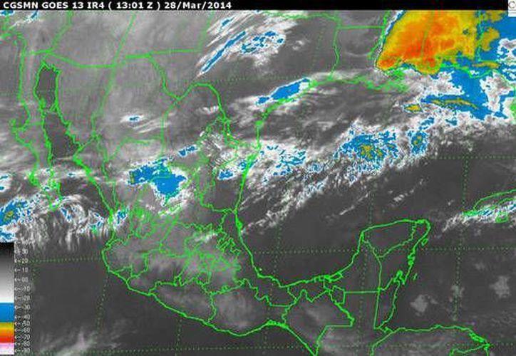 La entrada de aire marítimo tropical con moderado contenido de humedad procedente del Golfo de México y mar Caribe originará tiempo muy caluroso. (Conagua)