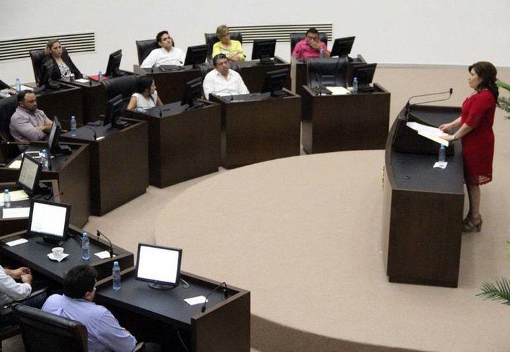 Celia Rivas, presidenta de la Junta de Gobierno y Coordinación Política, agradeció el trabajo de los legisladores. (Milenio Novedades)