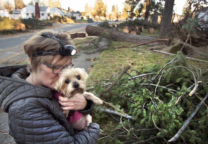 Las fuertes lluvias en el estado de Washington han ocasionado inundaciones en caminos y viviendas. Tres personas han perdido la vida a causa del mal tiempo. (AP)