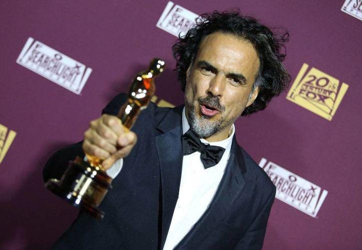 Alejandro Gonzalez Iñárritu, ganador del Oscar a Mejor Director, y Mejor película por 'Birdman'. (AP)